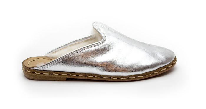 Picture of Shiny Disco Silver Mule